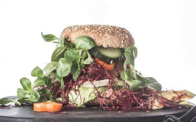 Byg-selv burger med fritter